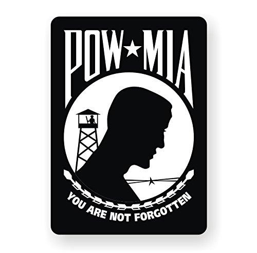 War Window Decal - POW MIA Vinyl Bumper Sticker | Decal | Window Label Military Prisoner of War