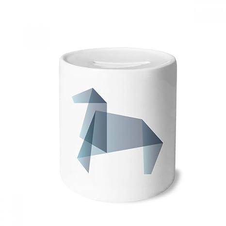DIYthinker Resumen de Caballo de Origami Forma geométrica Caja de Dinero de Las Cajas de ahorros