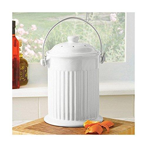 White Ceramic Compost Crock