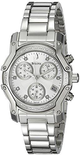 Bulova Women's 96R138 Diamond Dial - Diamond Watch 16 Chronograph