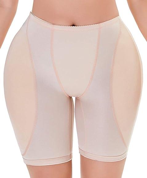 EmilyLe Womens Plus Size Thigh Slimmer Butt Lifter Padded Panties Hip Enhancer Shaper Underwear Breathable Briefs