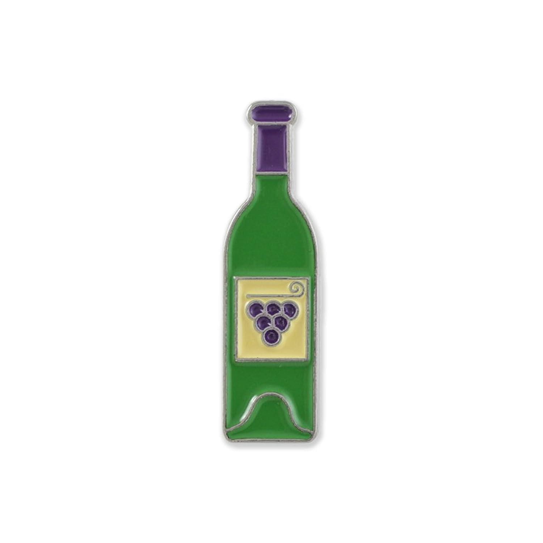 Wine Bottle Black Nickel Plated Enamel Diestruck Lapel Pin