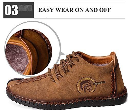 De Et Plein Zhshiny Chaussures Air Pour Antidérapantes En Hommes Légères D'hiver Chaudes Peluche Noir Neige Bottes Yq8xzr85