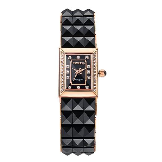 Reloj de moda blanco diamante/Relojes de moda cuadrados-C: Amazon.es: Relojes