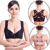 Postura Corrector para Pecho ajustable Elástico Soporte de espalda y hombro Vest de mujer(L)