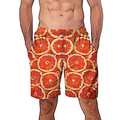 Men's Quick Dry Funny Shorts Man Graffiti Printed Swim Trunks with Mesh Lining Bathing Suits
