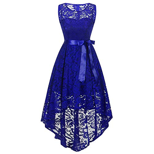 (Women Evening Dresses, JOYFEEL ❤️ Ladies O-Neck Sleeveless Puffy Ball Gown Solid Color Ruffled Swing Prom Dresses)