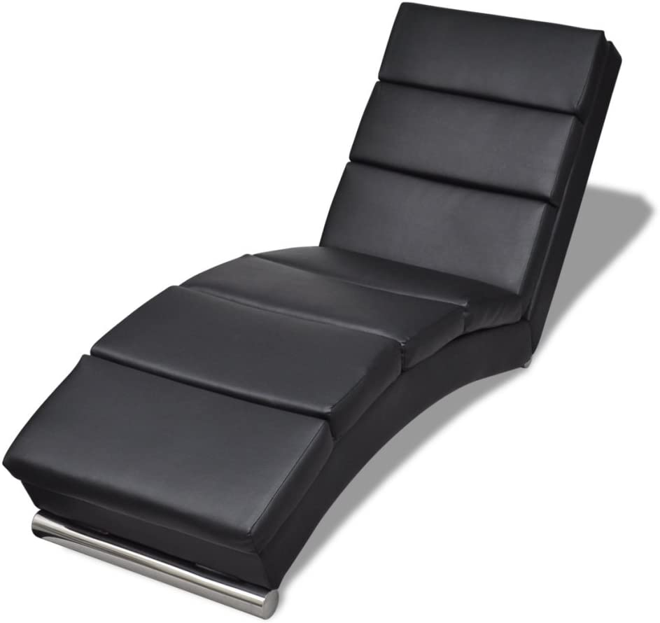 Festnight Chaise longue Negro Tumbonas Sofás 154 x 52.5 x 72cm