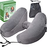 interesting home office ideas for women NaoBest Luxury Inflatable Travel Pillow Airplanes - Air Pillow w/Adjustable Neck Size - Supports Chin, Head - Soft Washable Cover - Cell Phone Pocket - Grey - Launch Offer