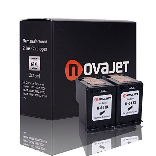 cheap Novajet Remanufactured 61XL 61 XL (2 Black) Ink