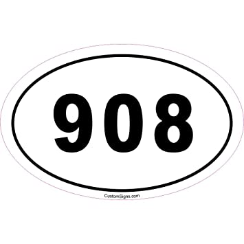 Amazoncom Area Code Bumper Sticker For Car Automotive - Area code 908