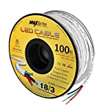 18AWG Low Voltage LED Cable 3 Conductor Jacketed In-Wall Speaker Wire UL/cUL ...
