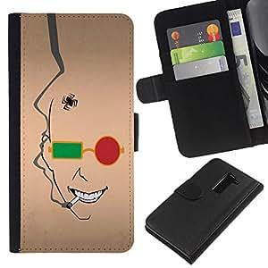 EJOY---La carpeta del tirón la caja de cuero de alta calidad de la PU Caso protector / LG G2 D800 / --Resumen de la cara
