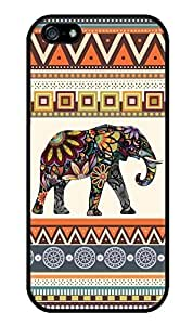 Elephant Art on Aztec Pattern Hard Plastic Case for iPhone 5 5s case wangjiang maoyi