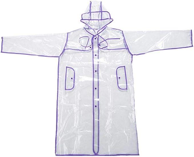 Transparent Vinyl Raincoat Runway Style Womens Girls Clear Fashion Rain Coat