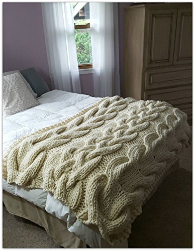 Chunky Oversized Cable Knit Blanket-MADE TO ORDER