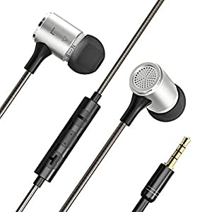 VAVA Flex Wired Earphones, Bass Stereo Earbuds Headphones, In-ear Headphones with mic (Dual EQ Modes, Inline Controls for iOS/Android, Built-in Mic, Hands-free Calling, Extra Earbuds, 3.5mm jack)