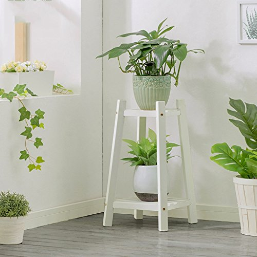 Flower Stand Wood White Living Room Indoor Balcony Multilayer Floor-standing Flower Stand (Size : 60cm) from Flower Stands