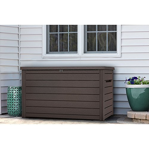 Keter XXL 230 Gallon Plastic Deck Storage Container Box Outdoor Patio Garden Furniture 870 Liters (Patio Cushion Container Storage)