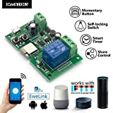 remote relay module - EACHEN WiFi Wireless Inching Relay Monentary/Self-locking Switch Module DIY Smart Home Remote Control DC 5-32V AC90-260V Ewelink App Compatible With Alexa Echo Google home Nest IFTTT SONOFF (ST-DC1)