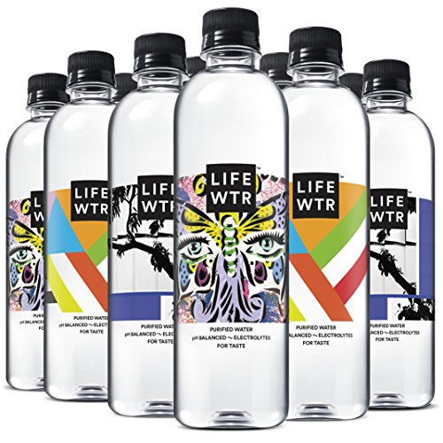 LIFEWTR, Premium Purified Water, pH Balanced with Electrolytes For Taste, 500 mLbottles (Pack of 12) (Packaging May Vary)