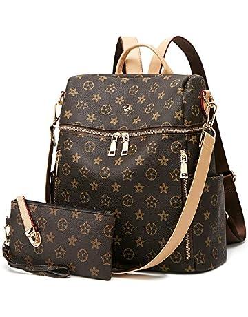 8056cc0bca4d Backpack for women Fashion Leather Ladies Rucksack Crossbody Shoulder Bag  2pcs Purses Backpack Set