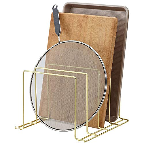 Better Houseware Multi-Purpose Kitchen and Office Organizer, Plated Brass