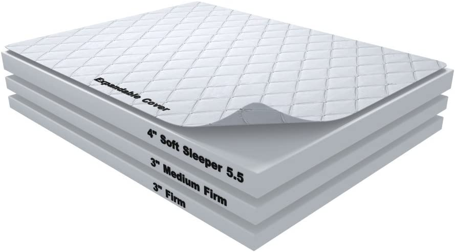 10 Inch Soft Sleeper 5.5 Cal King RV//Truck Mattress Bed With 4 Inches of Visco Elastic Memory Foam Assembly Required USA Made