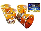 5 Piece Best Value Reusable Sturdy Movie Theatre Large 12 Cup Popcorn Tubs Buckets, (7