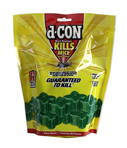 (D-Con 1 Mouse Bait Blocks Refills-12 Count with 1 Station)