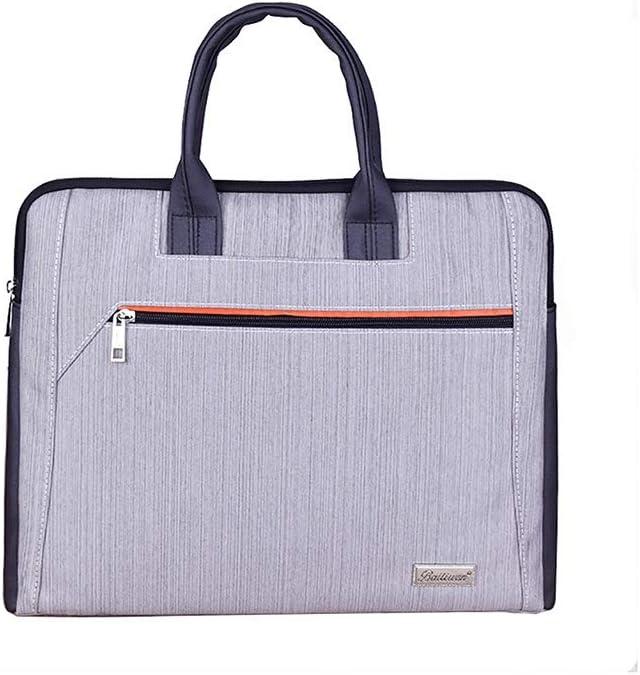 Color : A-37x32x5cm Multi-Layer File Bag Fashion Briefcase Canvas Student Handbag 4 Options