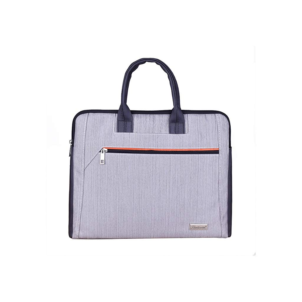 Multi-Layer File Bag Fashion Briefcase Canvas Student Handbag 4 Options (Color : B-38x31x5cm) by QSJY File Cabinets