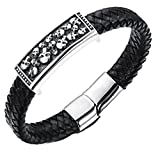 CC-JJ - Punk Rock Skull Bracelet Men Stainless Steel
