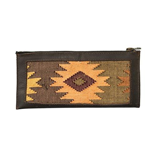 Femme Native Comalapa Zipper Wallet Handmade by Hide  Drink :: Sunset