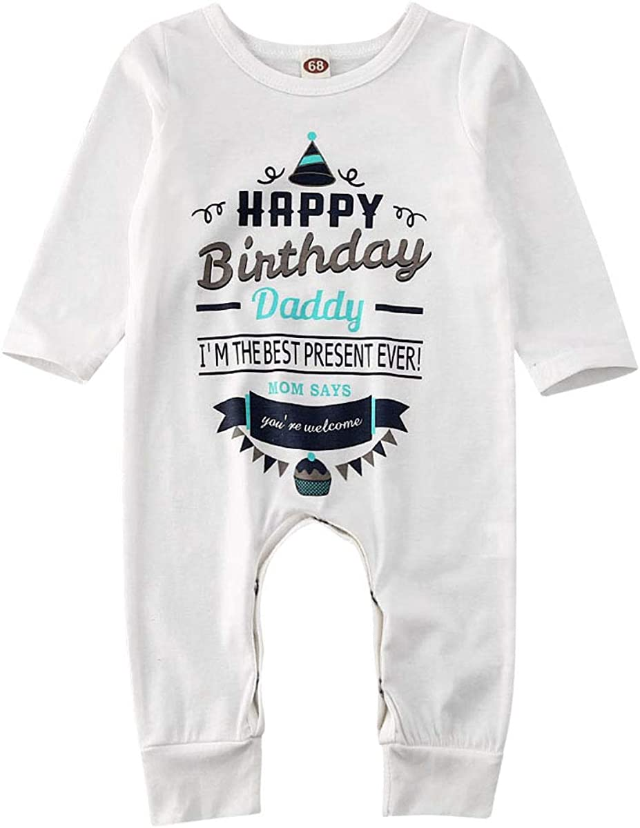Daddys Lil Farter Cute New Born Funny Baby Long Sleeve Gown Newborn Light Blue TeeStars