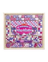 Melissa & Doug Deluxe Collection Wooden Bead Set With 340+ Be...