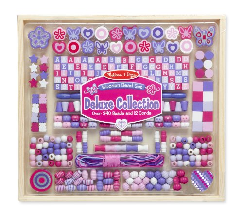 Melissa & Doug Deluxe Collection Wooden Bead Set With 340+ Beads for Jewelry-Making Melissa & Doug Butterfly Jewelry
