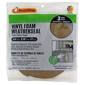 Frost King V443BH Vinyl Foam Weatherseal