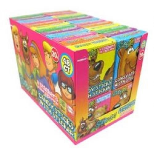 Scooby Doo candy sticks 16g with stickers 4 stickers inside each pack 48 packs Halal
