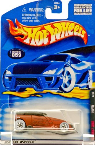 2001 - Mattel - Hot Wheels - Rat Rods Series 3 of 4 - Phaeton (Matte Brown) Flame Graphics / Black Top - Rare White Wall Tires - Collector #059 - New - Out of Production - Limited Edition - Collectible ()