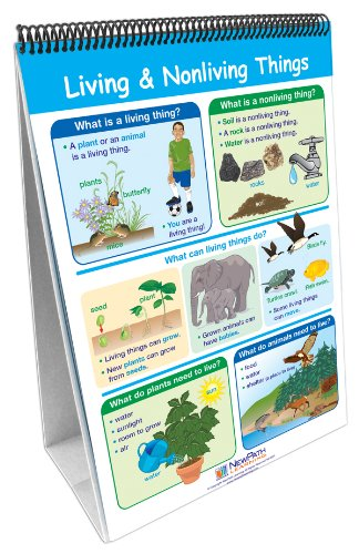 NewPath Learning 10 Piece Science Curriculum Mastery Flip Chart Set, Grade 1