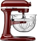 KitchenAid KF26M2XGC 6-Qt. Professional 600 with Glass Bowl - Gloss Cinnamon Dark Red