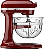 kitchenaid cinnamon red - KitchenAid KF26M2XGC 6-Qt. Professional 600 with Glass Bowl - Gloss Cinnamon Dark Red