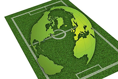 Laminated Poster: Grass Rush Football Playing Field Sport Earth Globe World Planet World Championship