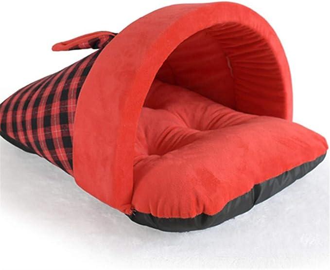 GYK Boutique Cama para Mascotas, Zapatillas de Estilo británico para Mascotas, Cuadros Rojos, M: Amazon.es: Productos para mascotas