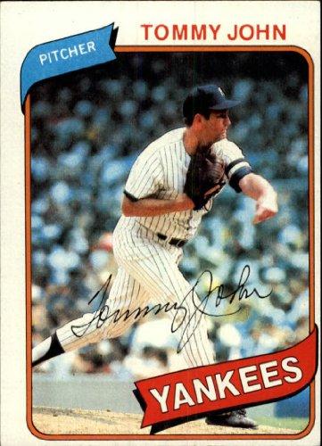 - 1980 Topps Baseball Card #690 Tommy John Mint