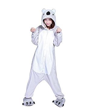 Keral Kigurumi Pijamas Adulto Anime Cosplay de Halloween Traje Outfit_Koala_XL