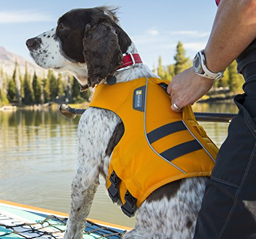 Float Coat Dog Life Jacket (RUFFWEAR WAVE ORANGE DOG FLOAT COAT ♦ NEW 2017 PREMIUM LIFE JACKET BUOYANT SECURE REFLECTIVE ♦ ALL SIZES (Large))