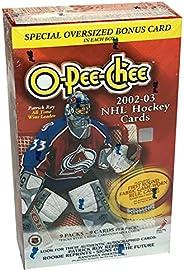 2002-03 O-Pee-Chee NHL Hockey Cards Blaster Box
