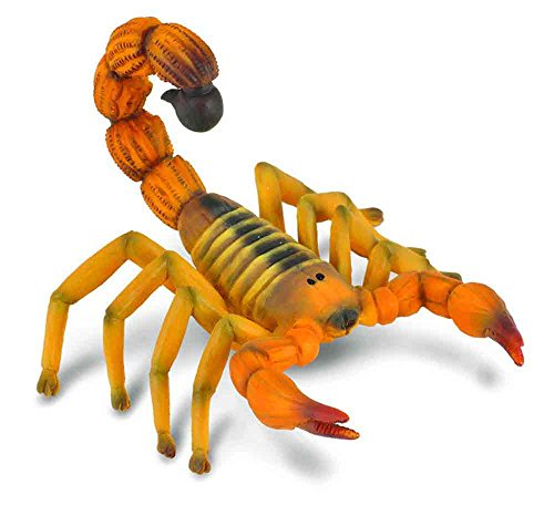 CollectA Insects Yellow Fat-Tailed Scorpion Toy Figure - Authentic Hand Painted - Miniatures Black Scorpion